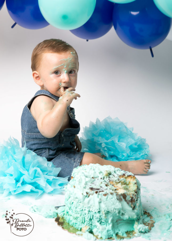 servizio fotografico primo compleanno smash cake